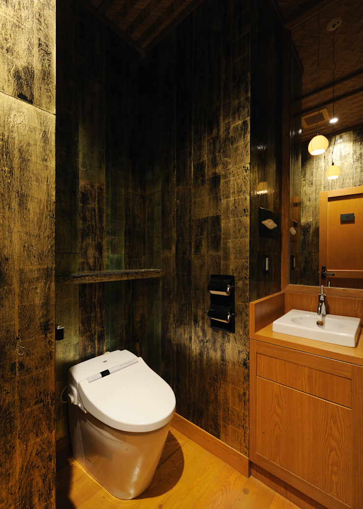 トイレ アジア風レストラン の 中川デザイン事務所 和風