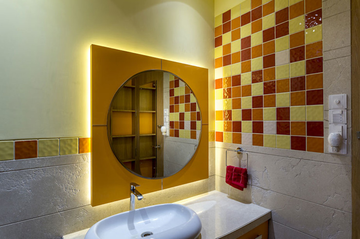 Kabra House Modern bathroom by Spaces and Design Modern