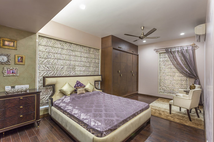 Kabra House Modern style bedroom by Spaces and Design Modern