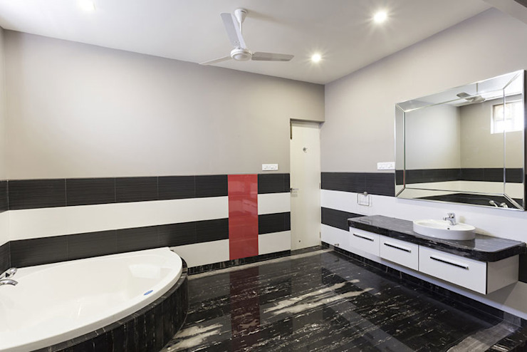 Bangalore Villas Modern bathroom by Spaces and Design Modern