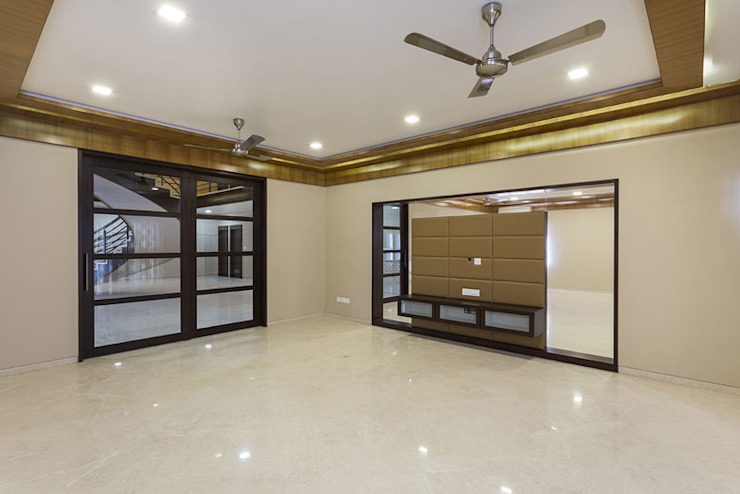 Bangalore Villas Modern living room by Spaces and Design Modern