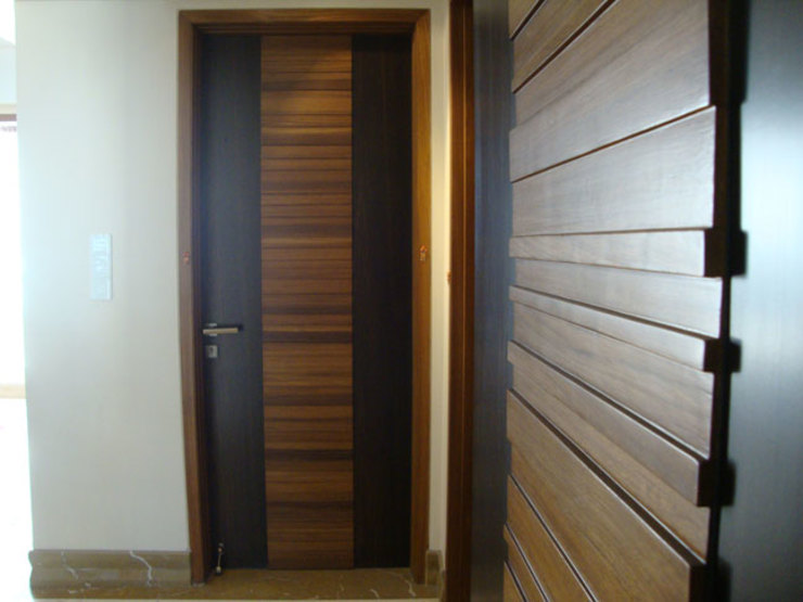 Chowdhary Residence Modern windows & doors by Spaces and Design Modern