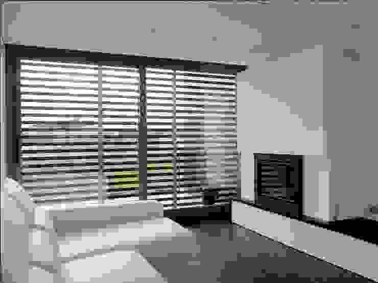 vivienda unifamiliar estilo moderno Salones de estilo moderno de cota-zero, tenica y construcción integrada, s.l. Moderno