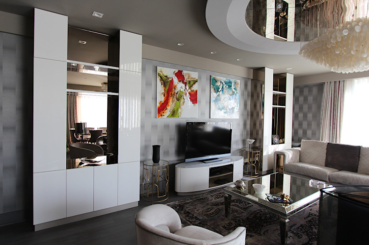 Living Room Renovation โดย Orkun İndere Interiors โมเดิร์น กระจกและแก้ว