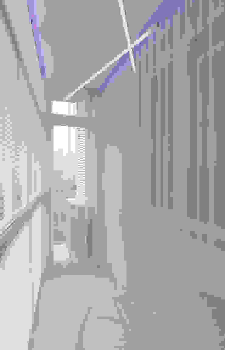 Дизайн-проект трехкомнатной квартиры для молодой семейной пары. Балкон и терраса в стиле модерн от Катя Волкова Модерн