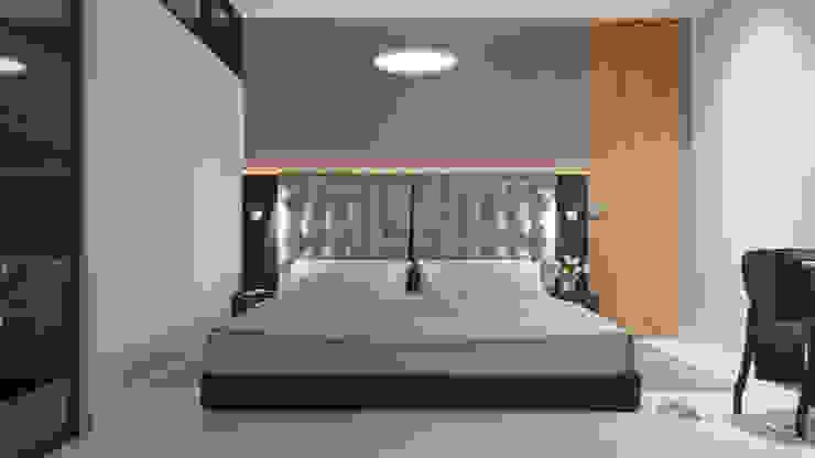 Дизайн-проект трехкомнатной квартиры для молодой семейной пары. Спальня в стиле модерн от Катя Волкова Модерн
