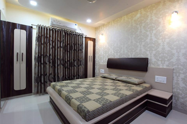 YOGESH KATARIA-VALSAD Modern style bedroom by PSQUAREDESIGNS Modern