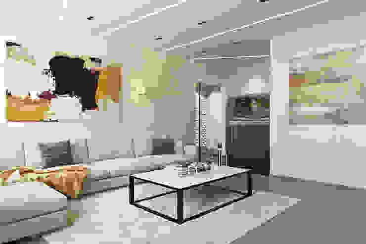 Гостиная Гостиная в стиле минимализм от СВЕТЛАНА АГАПОВА ДИЗАЙН ИНТЕРЬЕРА Минимализм