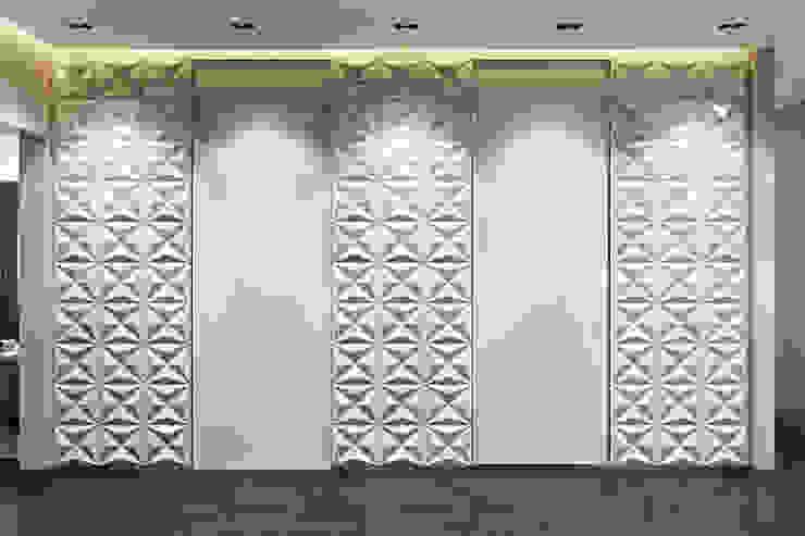 Фасад шкафа-купе в коридоре Коридор, прихожая и лестница в стиле минимализм от СВЕТЛАНА АГАПОВА ДИЗАЙН ИНТЕРЬЕРА Минимализм