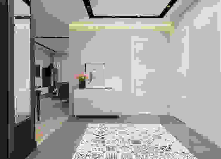 Дизайн-проект квартиры для молодой целеустремленной девушки. Коридор, прихожая и лестница в модерн стиле от Катя Волкова Модерн