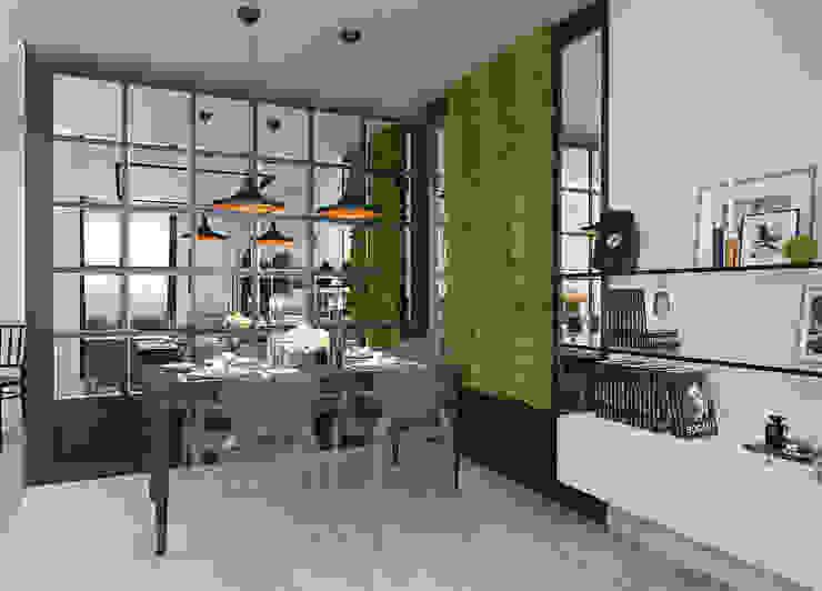 Дизайн-проект квартиры для молодой целеустремленной девушки. Гостиная в стиле модерн от Катя Волкова Модерн