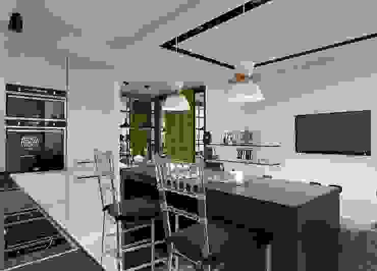 Дизайн-проект квартиры для молодой целеустремленной девушки. Кухня в стиле модерн от Катя Волкова Модерн