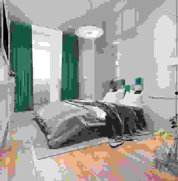 Дизайн-проект квартиры для молодой целеустремленной девушки. Спальня в стиле модерн от Катя Волкова Модерн