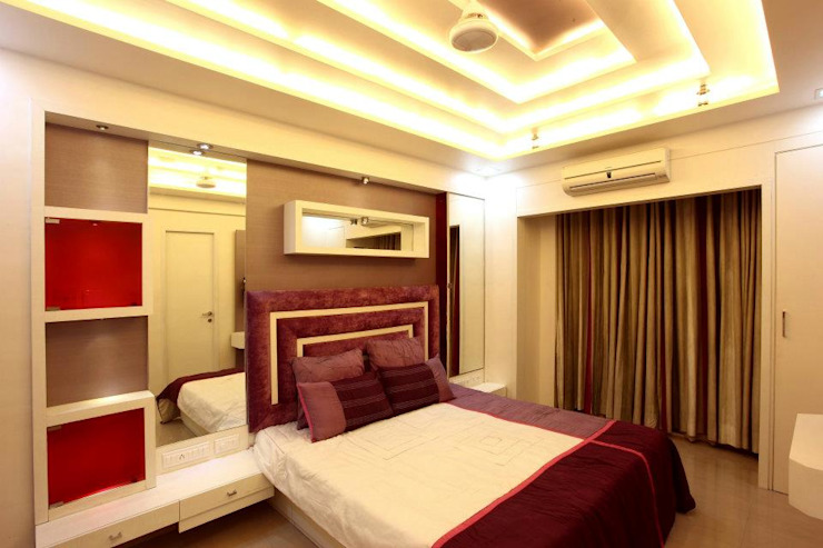 Bharat Bhanushali Modern style bedroom by PSQUAREDESIGNS Modern