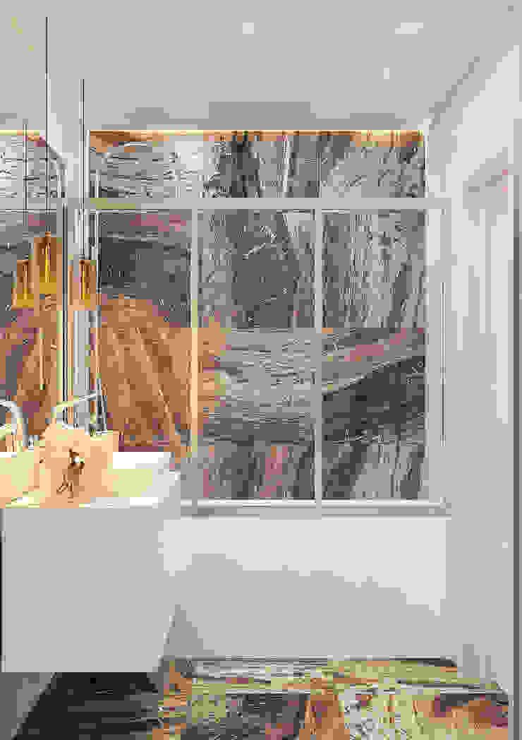 Дизайн-проект квартиры для молодой целеустремленной девушки. Ванная комната в стиле модерн от Катя Волкова Модерн