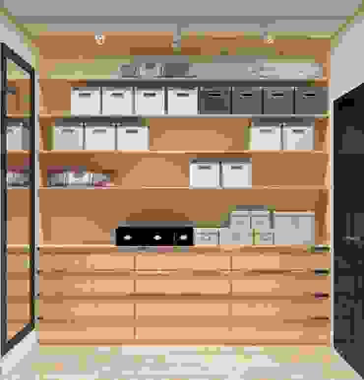 Дизайн-проект квартиры для молодой целеустремленной девушки. Гардеробная в стиле модерн от Катя Волкова Модерн