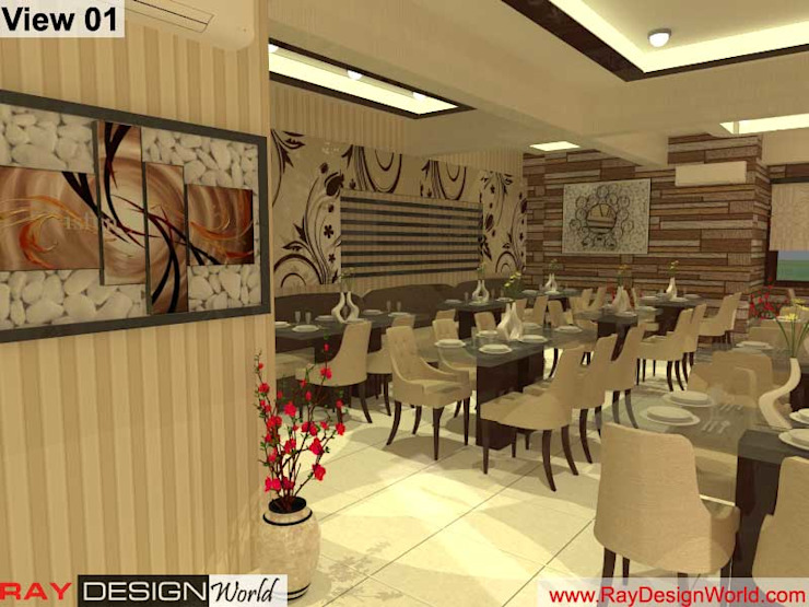 Restaurant Furniture layout: asian  by Ray Design World,Asian