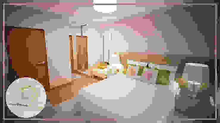 Projecto de Decoração de Suite - Moderno - Romântico - Fresco Quartos modernos por Andreia Louraço - Designer de Interiores (Contacto: atelier.andreialouraco@gmail.com) Moderno