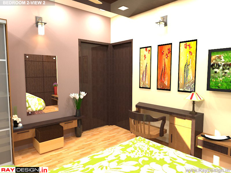 House in Mumbai Modern style bedroom by Ray Design World Modern