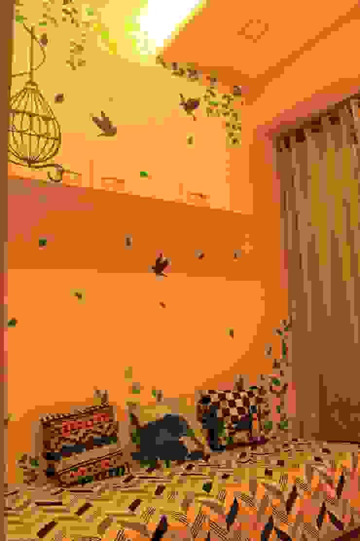Seaview Apartment at Palm Beach Residency at Navi Mumbai Modern study/office by Shweta Deshmukh & Associates Modern