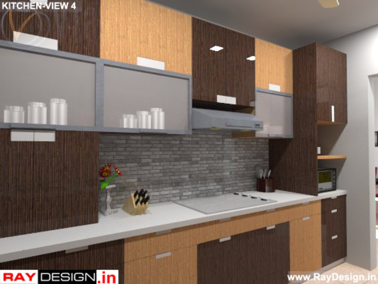 House in Mumbai Modern kitchen by Ray Design World Modern