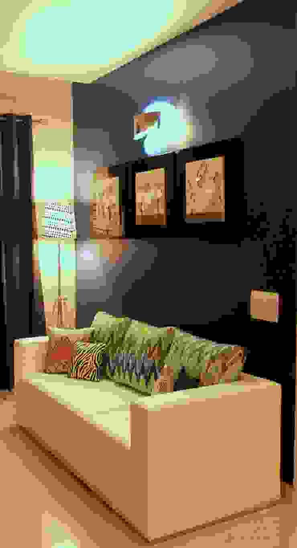 Seaview Apartment at Palm Beach Residency at Navi Mumbai Modern living room by Shweta Deshmukh & Associates Modern