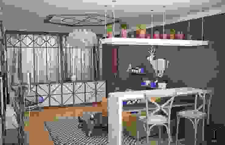 Гостиная с видом на лес Гостиные в эклектичном стиле от Yucubedesign Эклектичный