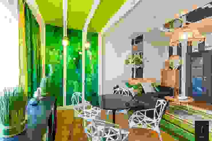 Зеленая беседка Гостиные в эклектичном стиле от Yucubedesign Эклектичный