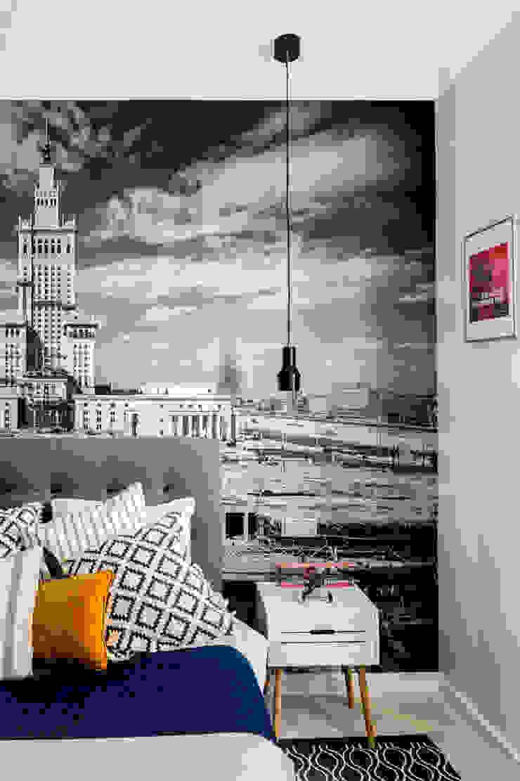 Our photoshoot of apartment design by D Plus Dagmara Zawadzka Nowoczesna sypialnia od Ayuko Studio Nowoczesny
