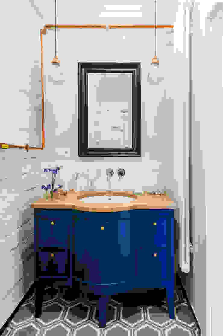 Our photoshoot of apartment design by D Plus Dagmara Zawadzka Nowoczesna łazienka od Ayuko Studio Nowoczesny Ceramiczny