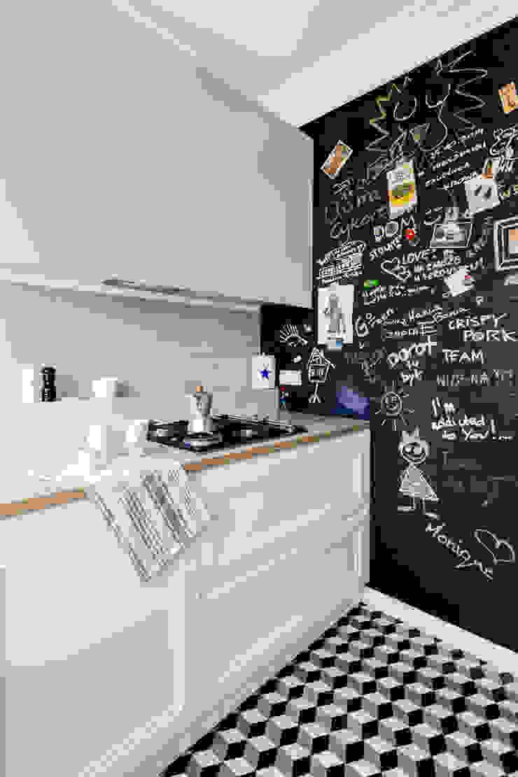 Our photoshoot of apartment design by D Plus Dagmara Zawadzka Nowoczesna kuchnia od Ayuko Studio Nowoczesny Ceramiczny