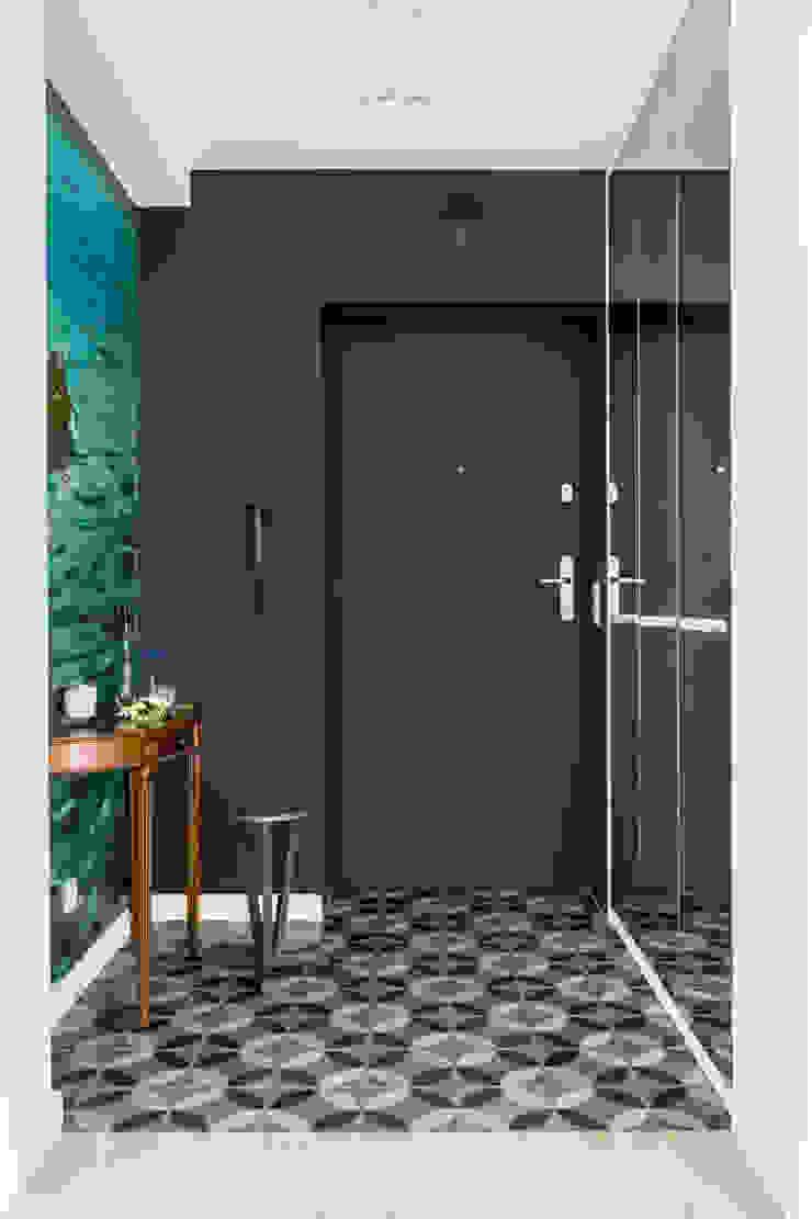 Our photoshoot of apartment design by D Plus Dagmara Zawadzka Nowoczesny korytarz, przedpokój i schody od Ayuko Studio Nowoczesny