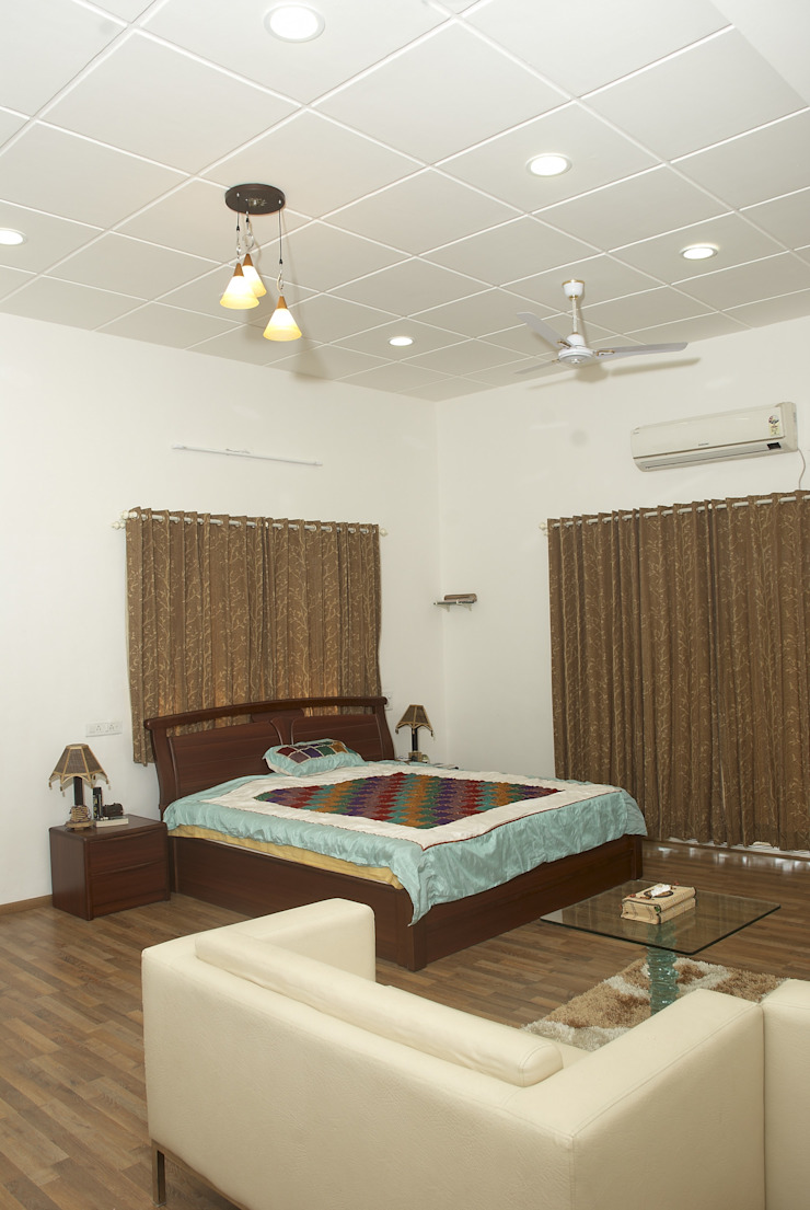 Residential project Modern style bedroom by JPA Tulja Interiors Pvt. Ltd. Modern