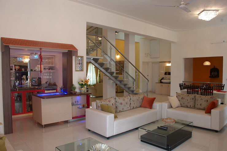 Residential project Modern living room by JPA Tulja Interiors Pvt. Ltd. Modern