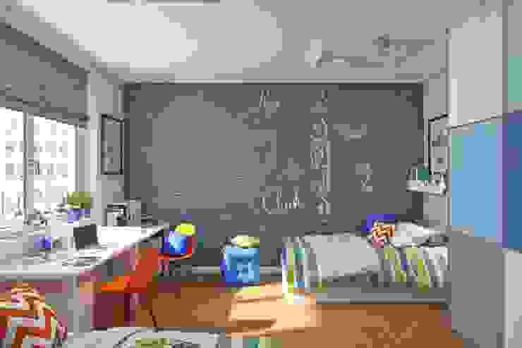 Грифельная cтена серого цвета: Детские комнаты в . Автор – IdeasMarket,