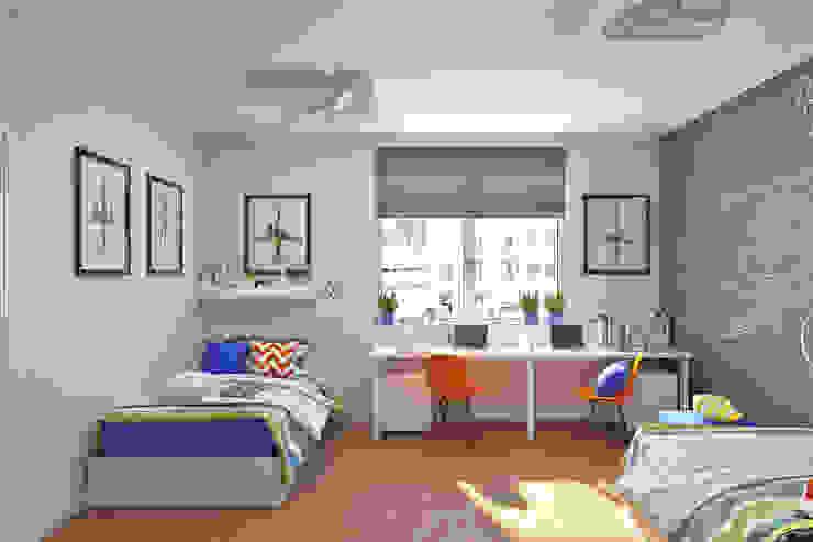 Детская комната с грифельной стеной Рабочий кабинет в эклектичном стиле от IdeasMarket Эклектичный МДФ