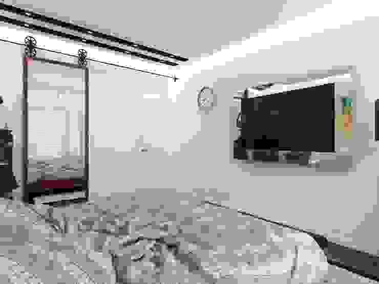 Спальня в стиле Лофт Спальня в стиле лофт от СВЕТЛАНА АГАПОВА ДИЗАЙН ИНТЕРЬЕРА Лофт Бетон