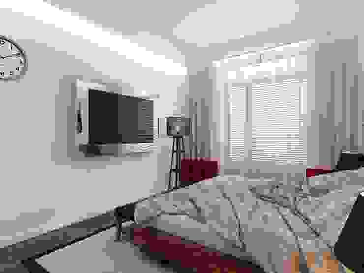 Спальня в стиле Лофт Спальня в стиле лофт от СВЕТЛАНА АГАПОВА ДИЗАЙН ИНТЕРЬЕРА Лофт