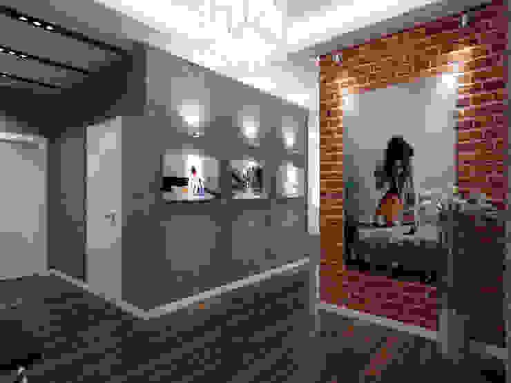 Прихожая в стиле Лофт Коридор, прихожая и лестница в стиле лофт от СВЕТЛАНА АГАПОВА ДИЗАЙН ИНТЕРЬЕРА Лофт Кирпичи