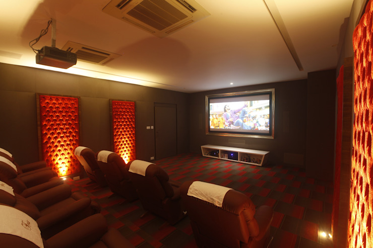 Modern style media rooms by INNERSPACE Modern
