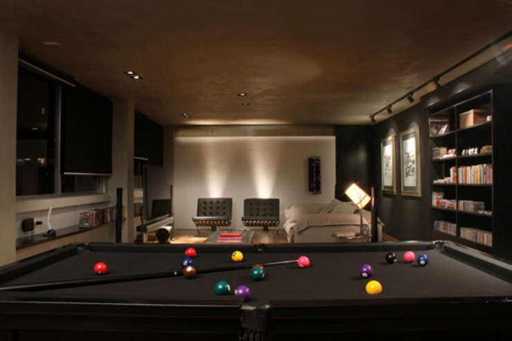 AL.Casa Branca Salas de estar modernas por IN - Studio Arquitetura de Interiores Moderno