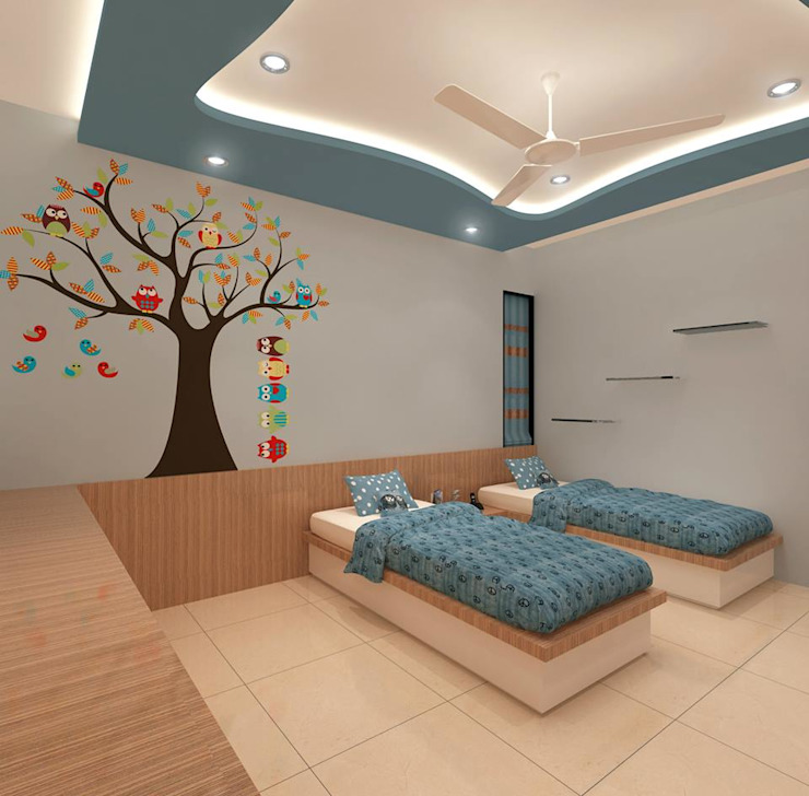 Residential project Modern nursery/kids room by Kunal & Associates Modern