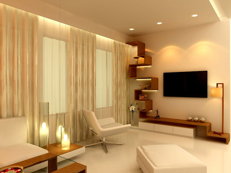 Residential project Modern living room by Kunal & Associates Modern