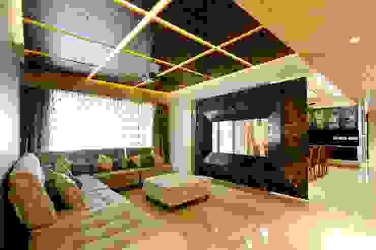 现代客厅設計點子、靈感 & 圖片 根據 andblack design studio 現代風
