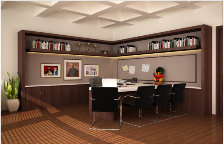 Study/office by Saloni Narayankar Interiors,