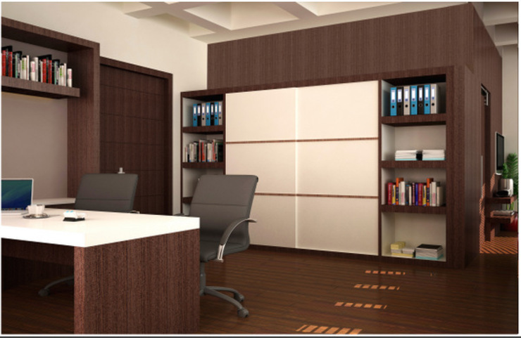 Saloni Narayankar Interiors Modern Study Room and Home Office