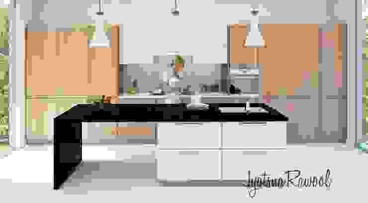 3D render Modern kitchen by jyotsnarawool Modern