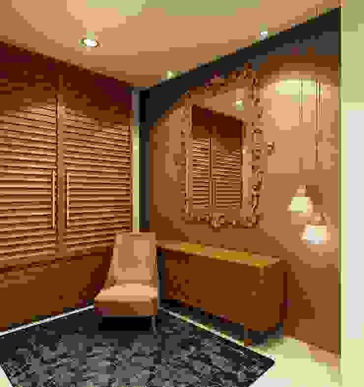 3D render Modern corridor, hallway & stairs by jyotsnarawool Modern