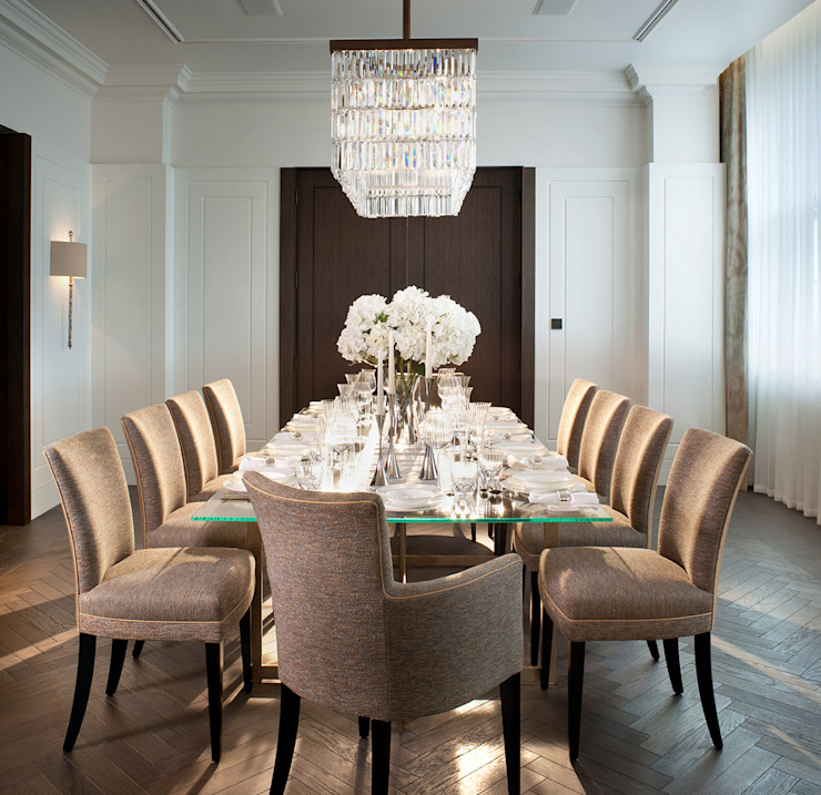 5&6 Connaught Place, Hyde Park, London. Classic style dining room by Flairlight Designs Ltd Classic