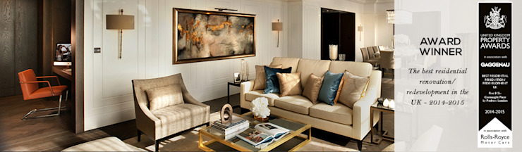 5&6 Connaught Place, Hyde Park, London. Flairlight Designs Ltd Classic style living room